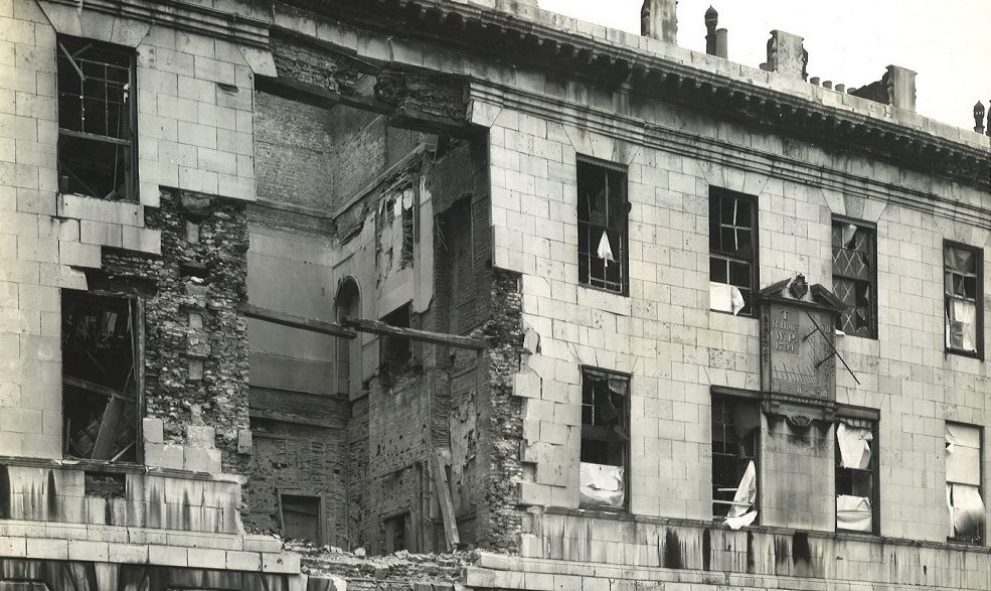Damage sustained to 2 & 3 Stone Buildings at Lincoln's Inn during the Blitz of World War II