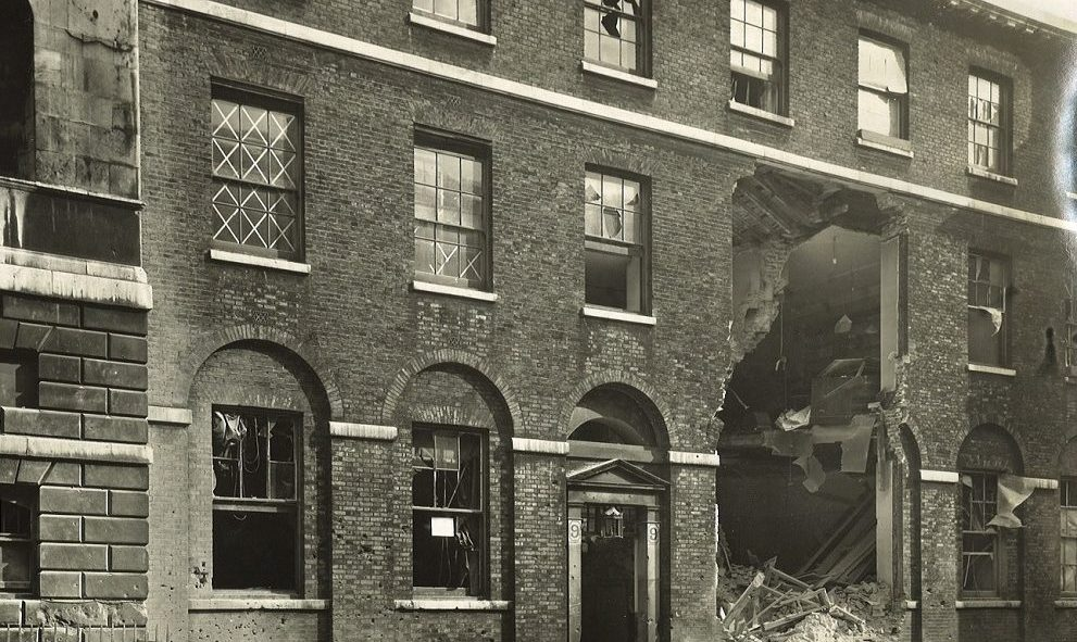 Damage sustained to 9 Stone Buildings at Lincoln's Inn during the Blitz of World War II