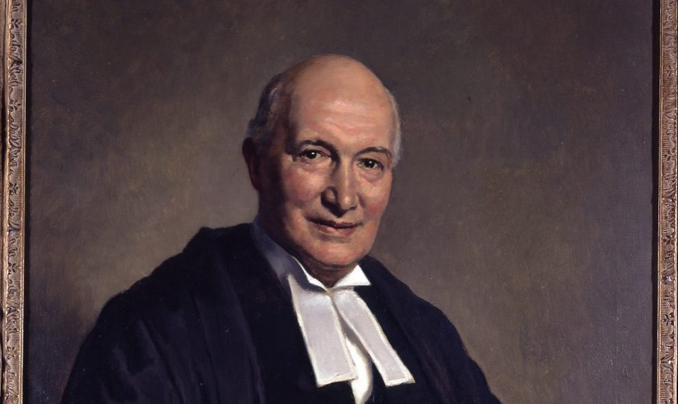 painted portrait of Lord Denning