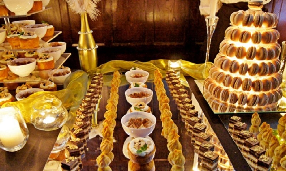 Image of sweets and puddings from the 2017 Gourmet Dinner at Lincoln's Inn