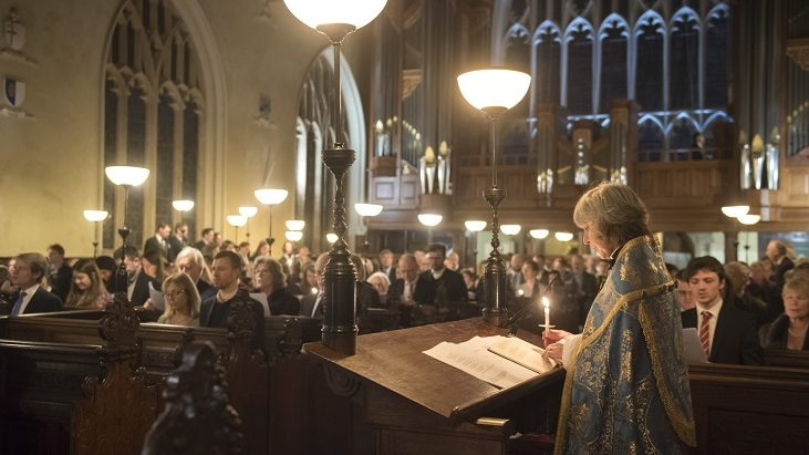 A candlelit service in Lincoln's Inn Chapel