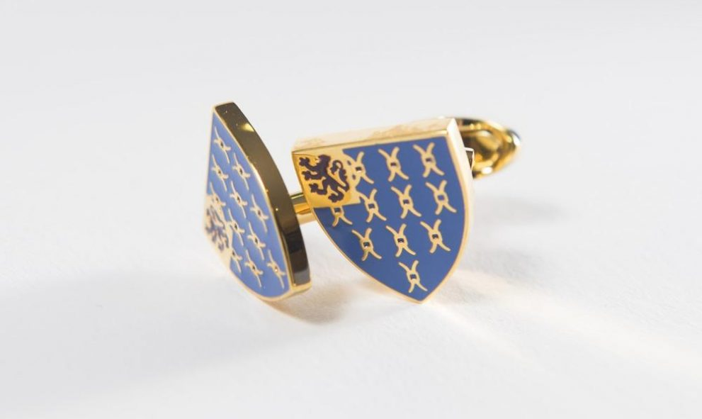 cufflinks with Lincoln's Inn crest