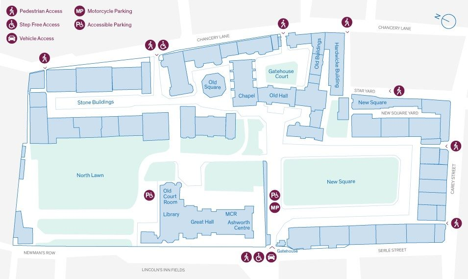 Lincolns Inn Estate Map